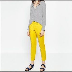 ZARA WOMAN Yellow Trouser